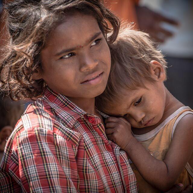 Sister love. Tordi Village, India April 2015. It's tough being a kid in India. #india #incredibleindia #nikon #NikonNoFilter #nikon_photography_ #sad #kids #travelphotography #streetphotography