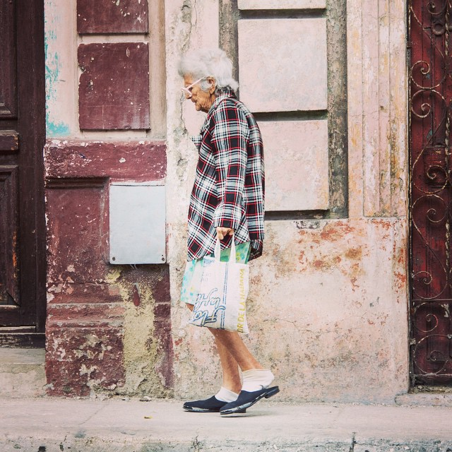 Slow walk home. There is no real incentive to walk fast in Cuba. Havana 2013