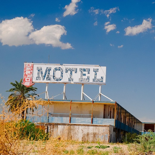 Welcome to the Hotel California. Go explore the Salton Sea. East of San Diego. March 2008. Oh wait. It's a motel !
