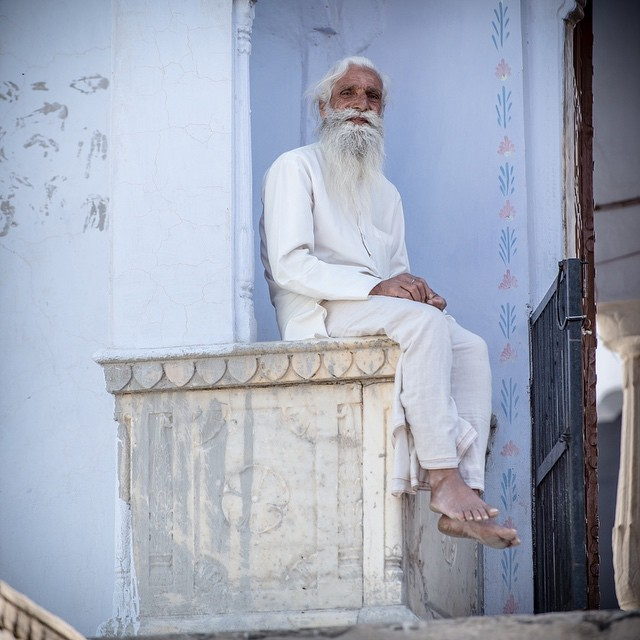 Ghost man. Tordi Village India. April 2015. I turned around after photographing some kids and saw this man. Sometimes the best photos are behind you.