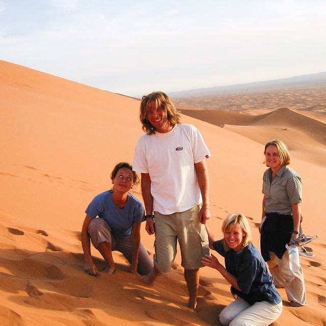 TBT Merzouga Dunes. September 2002. When your in Morocco you need to check out the dunes south of Efroud. You ride in on camels and spend the night under the stars.
