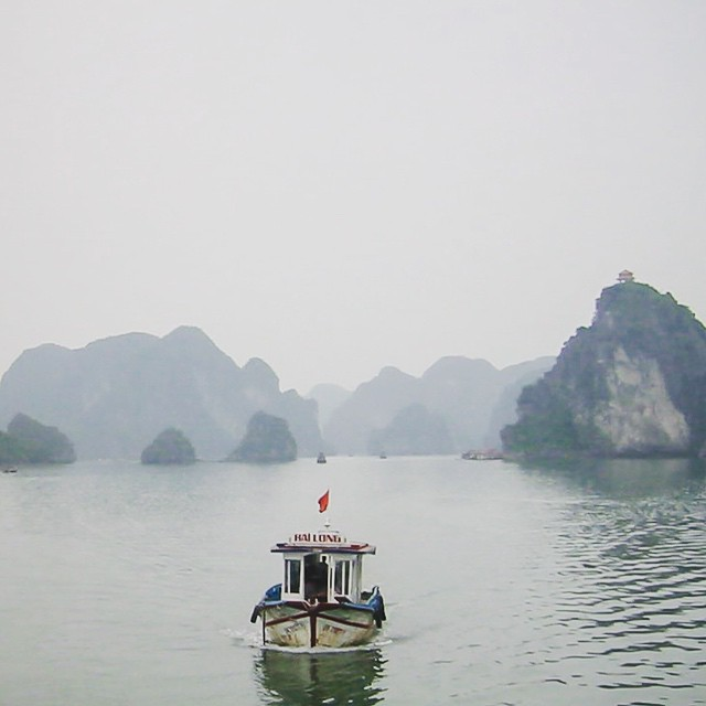 Good morning Vietnam. Ha Long Bay, Vietnam. If you go to Vietnam you need to make it over to the bay. Spend the night on a boat. August 2002.