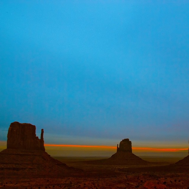 Monument Valley. Located in Navajo land in the four corners region. Don't forget to bring your party supplies with you, the reservation is dry.