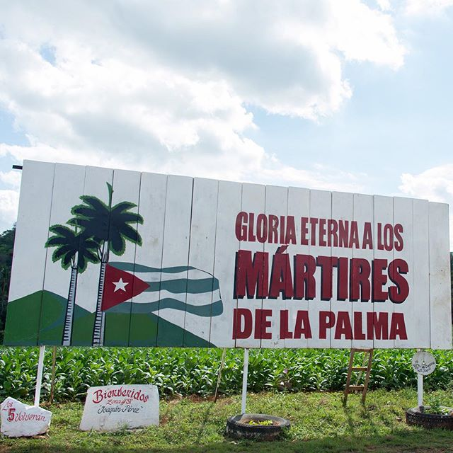 You see all sorts of government billboards when you drive around the island of Cuba. Liking these graphics. February 2013.