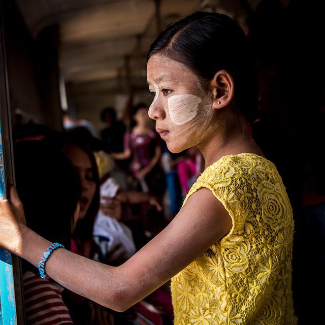Thought. The Circle Train. Yangoon Myanmar. Check out life in 3 hrs on the circle train. Cost about 10 cents. Images. Priceless.