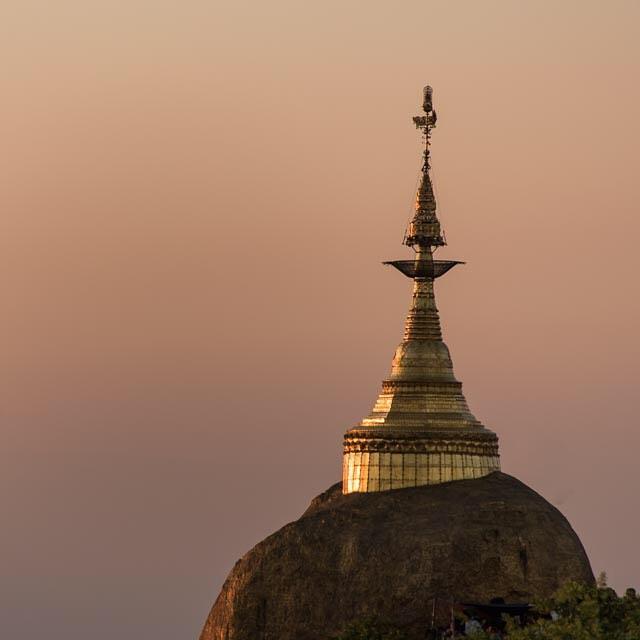 The golden hour. Kyaikhtiyo Myanmar. January 2016.