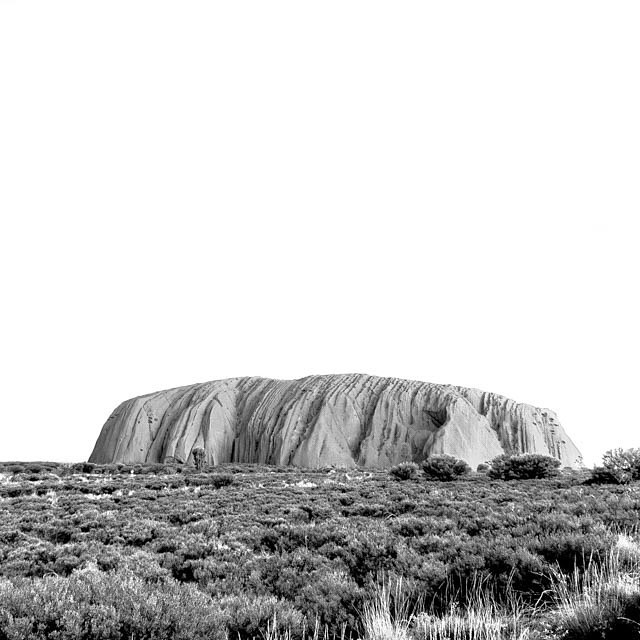 Uluru. Ok. There are over 99,000 images tagged for Uluru. How to be different? Go less is more. February 2016.