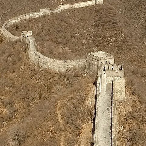 The drone visits the Great Wall. Stay tuned for some video. To check out more video visit link in profile and click on blog.