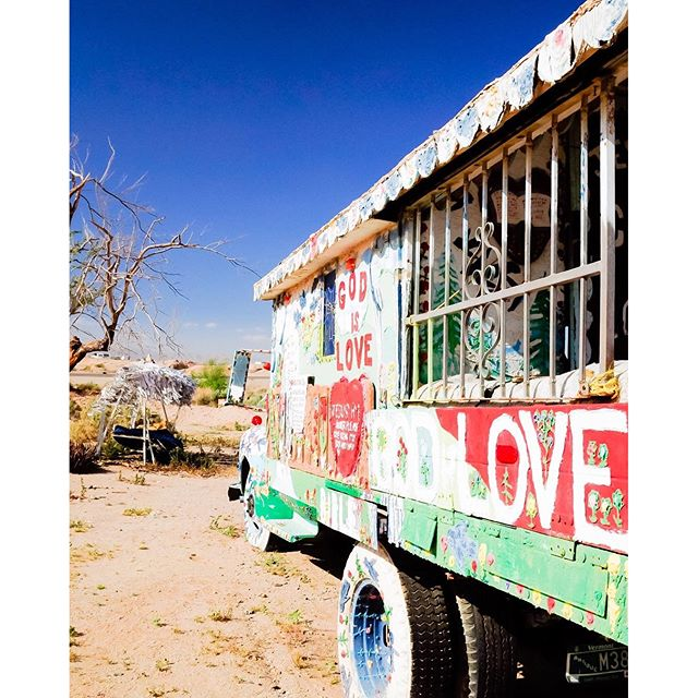 Love truck. Watch Into the Wild and you will for sure recognize this place. Salvation Mountain. 2010.