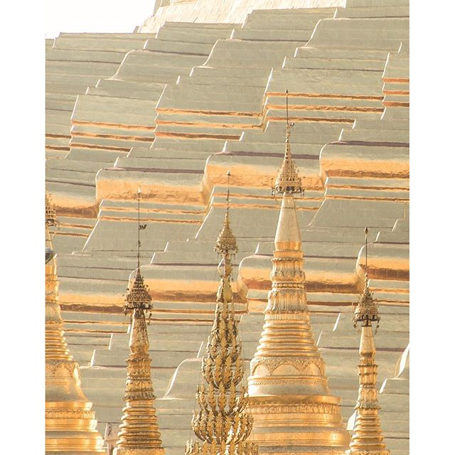 All that glitters is gold. Yangoon, Myanmar